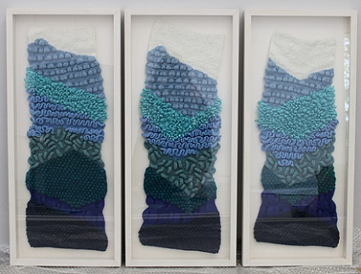 Internal landscapes knitted felted wool 2014 2